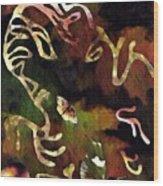 Solemn Wing Dance Wood Print