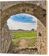 Solin Ancient Arena Old Ruins Wood Print