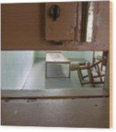 Solitary Confinement Cell Through Door Slat Wood Print