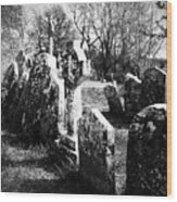 Solitary Cross At Fuerty Cemetery Roscommon Irenand Wood Print