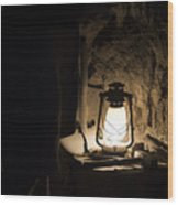Solitary Light Wood Print