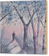 Solitary Man Wood Print