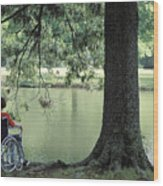 Solitude And The Lonely Heart Wood Print