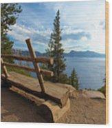 Solitude At Crater Lake Wood Print