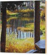 Solitude At Donner Pass Wood Print