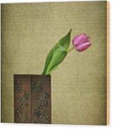Solitude In Bloom Wood Print