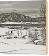 Solitude In Boulder County Wood Print