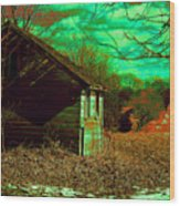 Solitude On The Backroads In Neon Wood Print