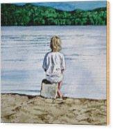 Solitude Upon The Lake Wood Print
