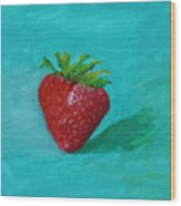 Solo Strawberry Wood Print