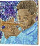 Solo Trumpet Wood Print