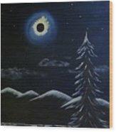 Solor Eclipse Wood Print