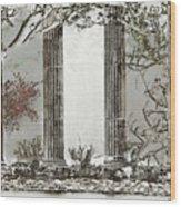 Solorised Pillars Wood Print