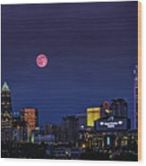 Solstice Strawberry Moon Charlotte, Nc Wood Print