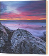 Solstice Sunrise At Jennes Beach Wood Print
