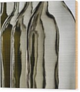 Somber Bottles Wood Print by Joe Bonita
