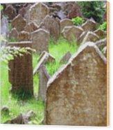 Somber Granite Wood Print