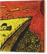 Sombras E Vidas Secas Wood Print