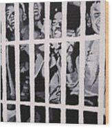 Some Of The 210 Demonstrators Jailed Wave From Their Cell 1964 Wood Print