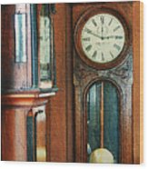 Somebodys Grandfathers Clocks Wood Print
