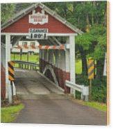 Somerset Burholder Covered Bridge Wood Print