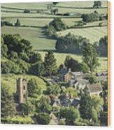 Somerset Church Wood Print