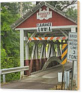 Somerset County Burkholder Covered Bridge Wood Print