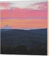 Somerset Sunset Horizontal Wood Print