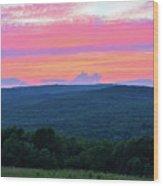 Somerset Sunset Vertical Wood Print