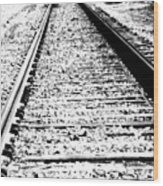 Something About The Railroad Tracks Wood Print