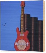 Hard Rock Cafe Sign In Baltimore Wood Print