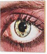 Something In The Eye Wood Print