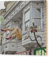 Something To Find Only The In The Haight Ashbury Wood Print