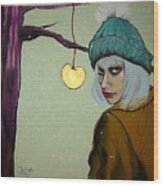 Sometimes A Girl Just Wants A Little Bite Of The Golden Apple Wood Print