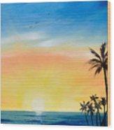 Sometimes I Wonder - Vertical Sunset Wood Print