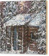 Sometimes In Winter Wood Print