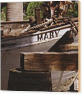 Someting About Mary Wood Print