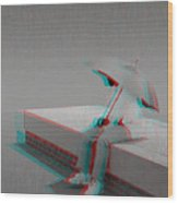 Somewhere It's Raining - Use Red-cyan 3d Glasses Wood Print