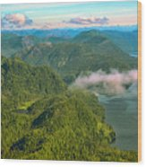 Over Alaska - June  Wood Print