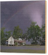 Somewhere Over The Rainbow Wood Print by Jan Amiss Photography