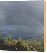 Somewhere Over The Rainbow Wood Print