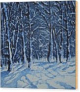 Somich Snow Wood Print