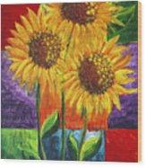 Sonflowers I Wood Print