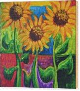 Sonflowers II Wood Print