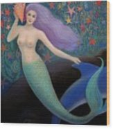 Song Of The Sea Mermaid Wood Print