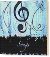 Songs - Blue Wood Print