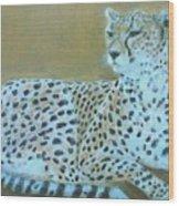 Sonia The Cheetah II Wood Print