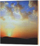 Sonnenuntergang 17052 Wood Print