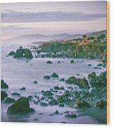 Sonoma Coast Shoreline Wood Print