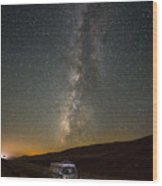 Sonora The Vw Bus Under The Milky Way Wood Print